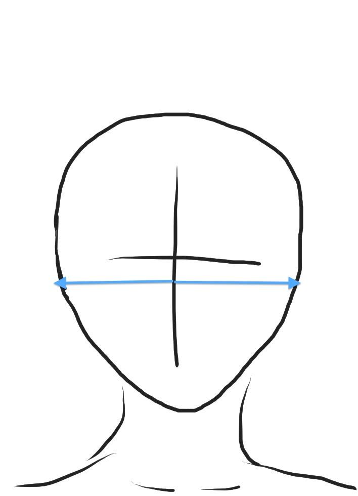 逆三角型 輪郭バランス