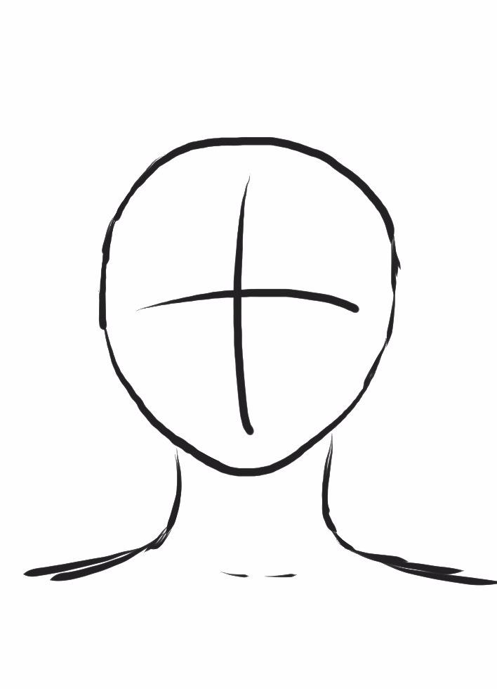 丸顔の絵コンテ